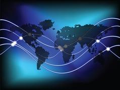 circles world map vector image