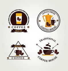 Coffee label icon menu vector image vector image