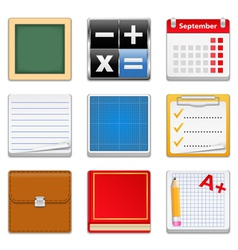 Education Square Icons vector image vector image