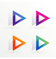 Elegant triangle symbol banner set vector