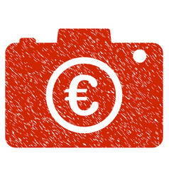 euro photo icon grunge watermark vector image