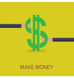 flat design make money concept vector image vector image