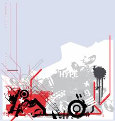 grunge tech vector image