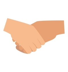 handshake deal isolated icon vector image