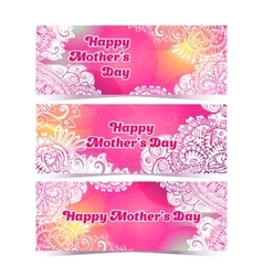 Happy Mothers Day horizontal flyer design template vector image vector image