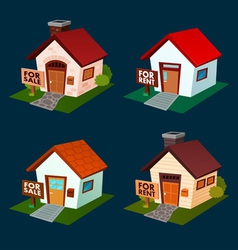 House for sale and rent vector