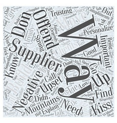 How and where to find suppliers word cloud concept vector
