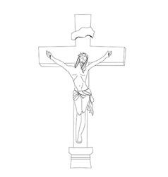 Jesus christ in the cross vector