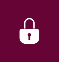 lock icon simple vector image vector image