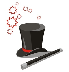 Magic hat set 02 vector image