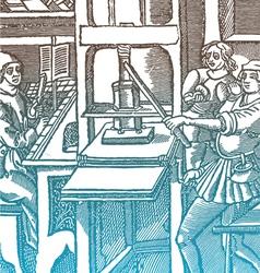 Medieval press vector
