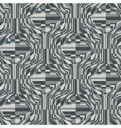 Ornate refracted geometric seamless pattern vector