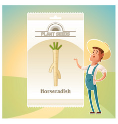 pack of horseradish seeds icon vector image vector image