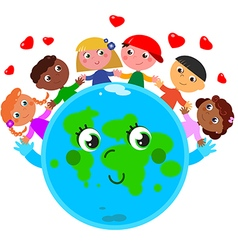 Peace around the world vector image vector image