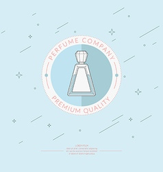 Perfume bottle design template vector