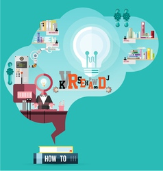read for smart brain vector image vector image