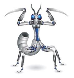 Robot-mantis vector