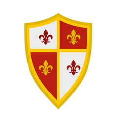 Royal shield icon flat style vector