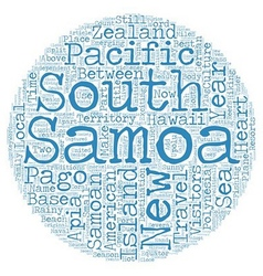 Samoa heart of polynesia text background wordcloud vector