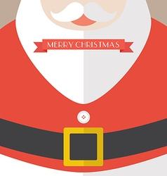 Santa claus coat merry christmas vector