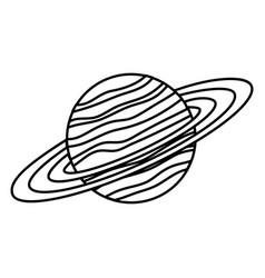Saturn planet isolated icon vector