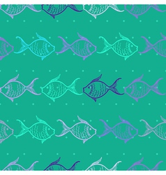 Seamless pattern with fishes vector