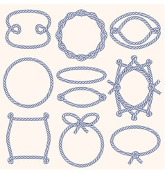 Set of marine rope frames vector image vector image