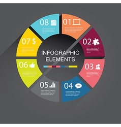 simple circle Infographic elements vector image