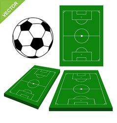 Soccer ball and soccer stadium vector image vector image