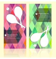 Sport brochure beauty template cards with your vector