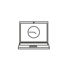 time on laptop icon vector image