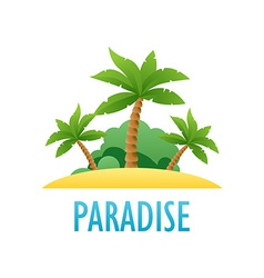 Tropical Island Nature Landscape vector image