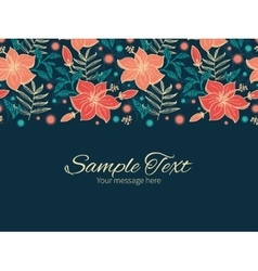 Vibrant tropical hibiscus flowers vector