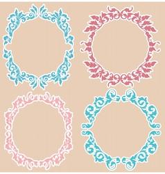 four floral frames vector image