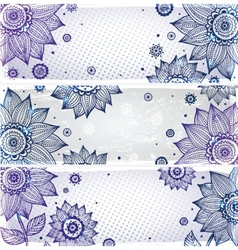 Sunflower bookmarks vector
