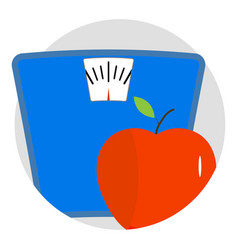 Diet icon app vector