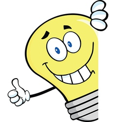 Light bulb thumbs up vector