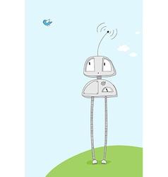 cartoon robot vector image