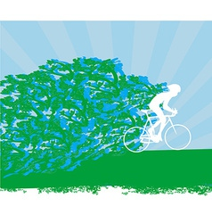 Cyclist abstract silhouette card vector