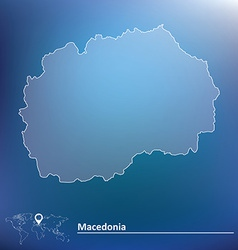 Map of macedonia vector