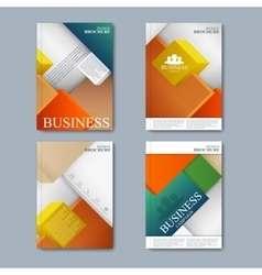 Modern set of brochures in the business vector