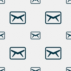 Mail envelope message icon sign seamless pattern vector