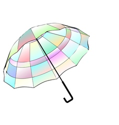 Multicolor umbrella vector