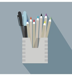 Pencil holder vector