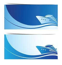 Cruise ship banner vector