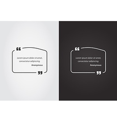 Empty quote template bubble template set vector