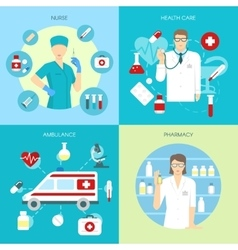 Flat medicine composition set vector