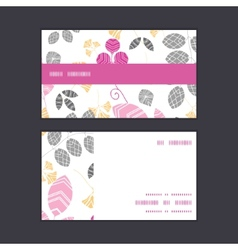 Abstract pink yellow and gray leaves horizontal vector