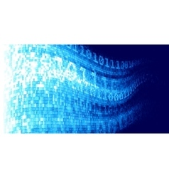 abstract techno background with binary code vector image