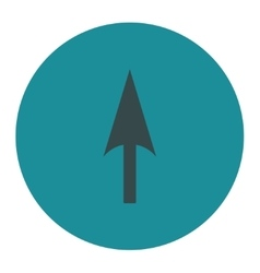 Arrow axis y flat soft blue colors round button vector